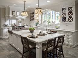 White Kitchen Islands With Seating White Kitchen The Range And The Extended Island With