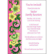 25 personalized family reunion invitations frf 03 pink floral ebay