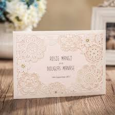amazon com wishmade 50x ivory laser cut wedding invitations cards