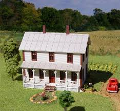 two story farmhouse american model builders 640 n two story farmhouse kit with porch