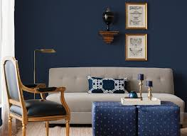 navy blue and white ottoman living room small living room decorating ideas with brown leather