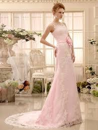 milanoo brautkleider rosa spitze etui brautkleid mit blumen deko und abnehmbarer