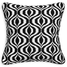 Modern Throw Pillows For Sofa Living Room Masculine Black And White Throw Pillow Solid Black