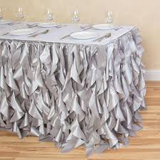 8 ft table skirt 21 ft curly willow table skirts fit standard 8 ft rectangular