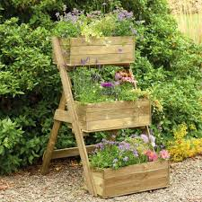 raised planter box ladder design garden with raised planter box