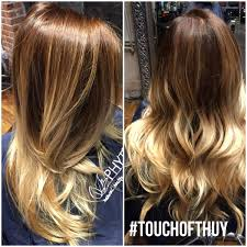 ombré and cut done by thuy scarlet salon denver hair