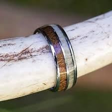 antler wedding ring antler rings deer antler wedding rings camo rings for