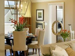 beautiful neutral dining room decor ideas with cream fabric dining