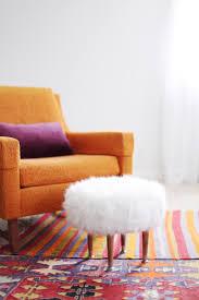 Pink Fur Chair Diy Faux Fur Footstool Diy It All Pinterest Fur Stools And