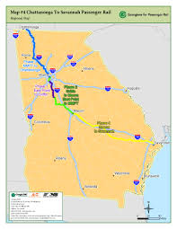 Savannah Ga Map Map 4 Chattanooga To Savannah Passenger Rail Georgians For