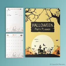 halloween party planner printable pdf editable halloween party