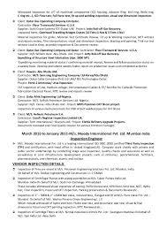 Quality Assurance Resume Example by Qa Qc Mechanical Engineer Sample Resume Contegri Com