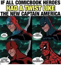 Hail Hydra Meme - if all comicbook heroes had a twist like the new captain america