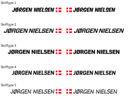 name signs profiled with flag abel nielsen mtbo equipment