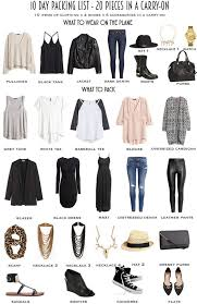 Ohio travel outfits images 10 day packing list 20 pieces in a carry on from day to night wear jpg