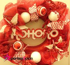 party pointer christmas wreath inspiration parties2plan