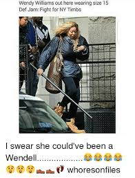Meme Def - wendy williams out here wearing size 15 def jam fight for ny timbs i