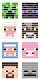 minecraft pixel art templates minecraft designs robot and third