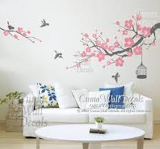 Cherry Blossom Wall Decal For Nursery Flower Wall Decal Tree Wall Decals Flower Vinyl Wall By Cuma