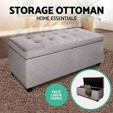 foot of bed storage ottoman storage ottomans ebay