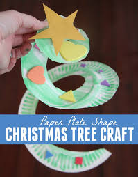 toddler approved paper plate shape christmas tree craft