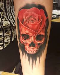 skulls and flowers tattoos flowers ideas for review