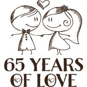 65 wedding anniversary 65th wedding anniversary gift t shirt spreadshirt