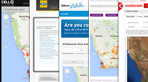 Gsm Coverage Map Usa by South African Cellphone Coverage Maps Vodacom Cell C Mtn