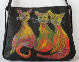 genti handmade piele geanta de piele naturala pisicile vesele corinaboutique crafty