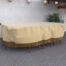 Patio Table Cover Rectangular Proof Rectangular Oval Heavy Duty Patio Table And Chair Set Cover
