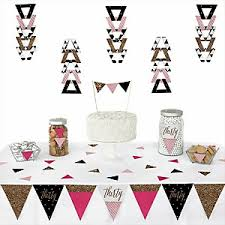 Gold And Pink Party Decorations Chic Pink Black And Gold 30th Birthday Birthday Party Theme