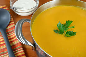 butternut squash soup with cider cream for the love of cooking