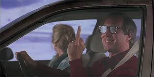 Clark Griswold Memes - smiling middle finger national loon s vacation reaction gifs