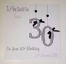 personalised 30th birthday card gift wallet nephew son grandson