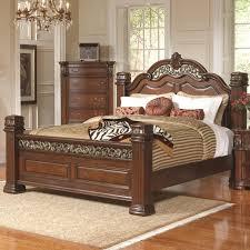 Metal California King Bed Frame Golden Gilded Iron California King Bed Frame With Ornate Brown