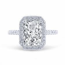 radiant cut halo engagement rings 1 53ct radiant cut f vs1 halo u prong engagement ring
