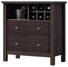 Wine Bar Furniture Modern by Dakota Modern And Contemporary Dark Espresso Brown Wood Wine Bar