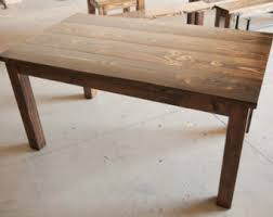 Harvest Kitchen Table by 5 U0027 Farmhouse Table Solid Wood Farmhouse Dining Table
