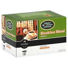 Green Mountain K Cups Coffee Breakfast Blend Decaf Light Roast