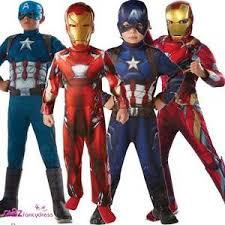 Captain America Halloween Costume Kids Boys Captain America U0026 Iron Man Civil War Film Kids Fancy Dress