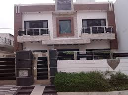 home design exterior elevation front house elevation two balcony iron gate wall design house