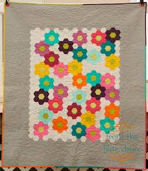 from the blue chair modern grandma u0027s flower garden quilt