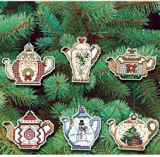 janlynn teapot ornaments cross stitch kit 021 1486