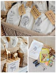 burlap party favor bags party favor bags burlap woodland animals cing by boobahblue