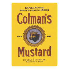 coleman s mustard colmans mustard logo fridge magnet vintage retro advertising