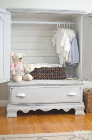 Shabby Chic Entertainment Center by Entertainment Center To Armoire Makeover The Golden Sycamore