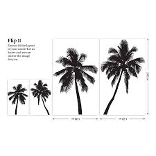 palm tree wall stickers by the binary box notonthehighstreet com palm tree wall stickers