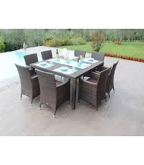 tavoli da giardino rattan tavolo quadrato con otto poltrone in rattan sintetico agalega