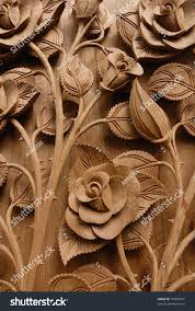 Teak Wood Rose Flower Thai Style Teak Wood Stock Photo 91845071 Shutterstock