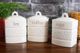 set of 3 georgian cream stoneware tea coffee sugar storage jars ebay